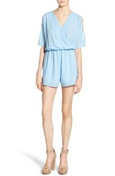 Women's Leith Cold Shoulder Romper Blue Bell
