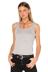 Nation Ltd. Yesenia Double Strap Tank Gray