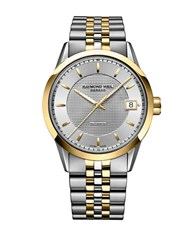Raymond Weil Freelancer Stainless Steel And Yellow Gold Pvd Multi Link Automatic Chronograph Two Tone