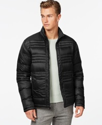 Ryan Seacrest Distinction Reversible Down Bubble Jacket Black