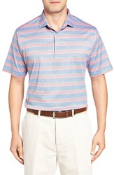 Peter Millar Men's Floyd Stripe Jersey Polo