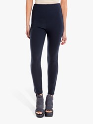 Max Studio High Waisted Ponte Trousers Navy