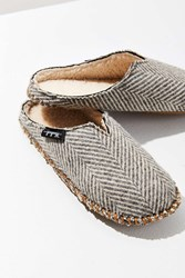 Woolrich Wool Herringbone Mill Scuff Slipper Grey Multi