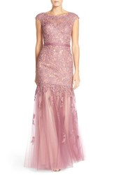Women's La Femme Lace And Tulle Mermaid Gown