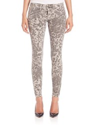 Current Elliott Leopard Print Ankle Skinny Jeans Steel Grey Scooter Leopard