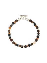 Andrea D'amico Beaded Necklace Brown