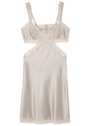 Stella Mccartney Clara Whispering Oyster Silk Satin Chemise