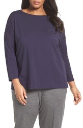 Eileen Fisher Plus Size Women's Organic Cotton Jersey Tee Midnight