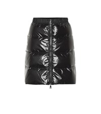 Moncler Quilted Down Miniskirt Black