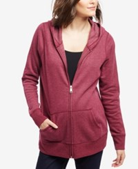 Motherhood Maternity Fleece Hoodie Blackberry Wine
