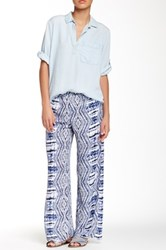 Romeo And Juliet Couture Print Palazzo Pant Blue