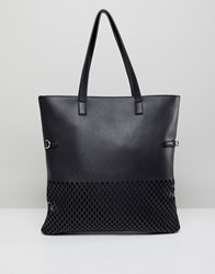 Qupid Shopper Bag With Pouch Black