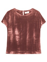 Toast Silk Velvet T Shirt Blush