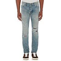 Saint Laurent Men's Original Low Rise Skinny Jeans Light Blue