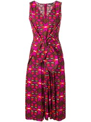 Aspesi Printed Knot Dress Pink