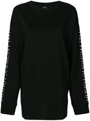 Marcelo Burlon County Of Milan Uplank Over T Shirt Cotton Polyester Xs Black