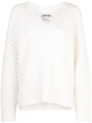 Jason Wu V Neck Jumper White