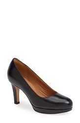 Women's Clarks 'Delsie Bliss' Platform Pump Black Leather