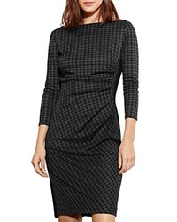 Ralph Lauren Houndstooth Dress Gray Black