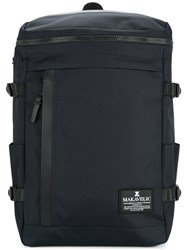 Makavelic Rectangle Daypack Polyester Blue