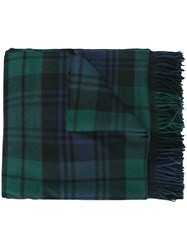 Dsquared2 Large Checked Tartan Scarf Blue