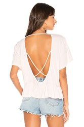 Bobi Light Weight Open Cross Back Tee Pink