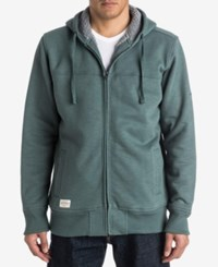 Quiksilver Waterman Full Zip Jacket With Faux Fur Lined Hood Balsam