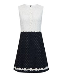 Ted Baker Olara Daisy Lace Shift Dress Dark Blue