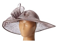 San Diego Hat Company Drs1015 Derby Asymmetrical Fascinator Charcoal Traditional Hats Gray