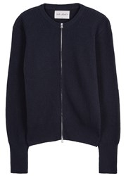 Our Legacy Navy Ribbed Wool Cardigan