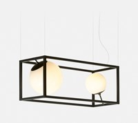 Rich Brilliant Willing Witt 2 Chandelier Black