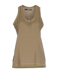 Cristinaeffe Collection Topwear Vests Women Military Green