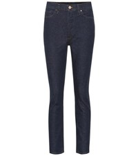 Gold Sign The High Rise Slim Straight Jeans Blue