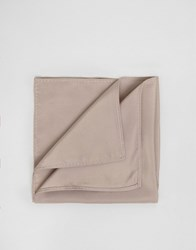 Asos Wedding Pocket Square In Taupe Taupe Stone