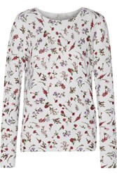 Joie Feronia Floral Print Cashmere Sweater Ivory
