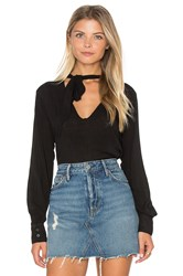 Bella Dahl Neck Tie Shirt Black