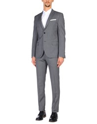 Daniele Alessandrini Grey Suits Steel Grey