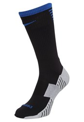 Nike Performance Stadium Crew Sports Socks Black Royal Blue