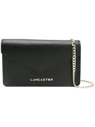 Lancaster Foldover Clutch Bag Black