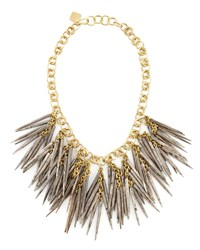 Grey Quill Bead Necklace Ashley Pittman Ivory