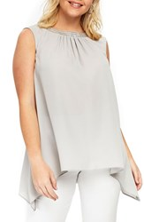 Evans Plus Size Embellished Tunic Tank Grey