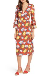 The Fifth Label Reunion Floral Wrap Dress Scarlet Roselle