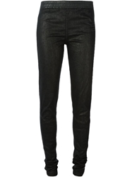 Rick Owens Drkshdw Waxed Denim Leggings