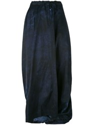 Y's Long Wrap Skirt Blue