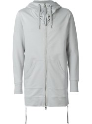 Diesel Black Gold Long Zipped Hoodie Grey