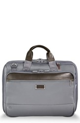 Briggs And Riley Work Expandable Briefcase Grey