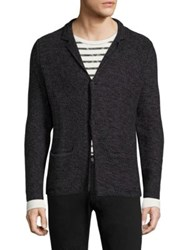 Strellson Textured Cotton Sweater Jacket Black