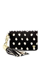 Betsey Johnson Tassel Card Case Black