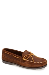Minnetonka Leather Moccasin Brown Ruff