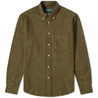 Gitman Brothers Vintage Cotton Tweed Shirt Green